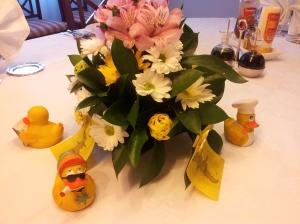 Flores y patos