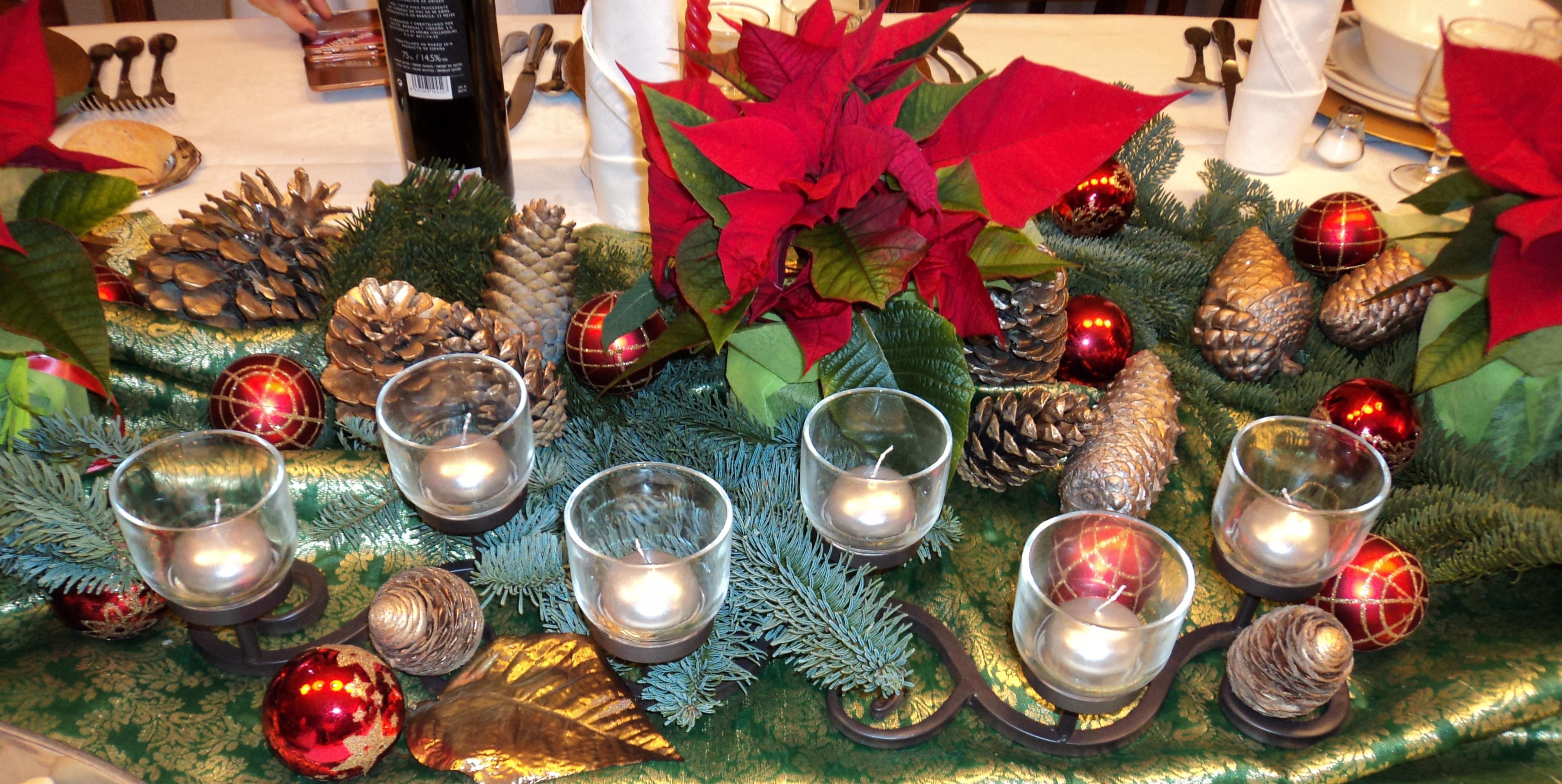 Centros de mesa para navidad y nochevieja hogar creativo - Centros de mesa navidad ...